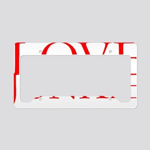 Love Junkie License Plate Holder